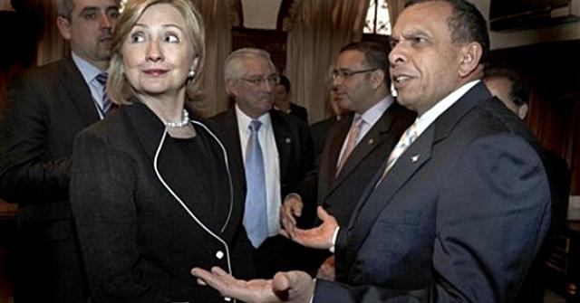 Secretary Clinton and post-coup President Porfirio Lobo in Guatemala eight months after the coup