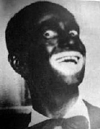 White singer Al Jolson in blackface