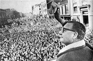 Chile's elected President Salvador Allende Gossens, overthrown in a US coup in '73 that was followed by creation of a South Amer
