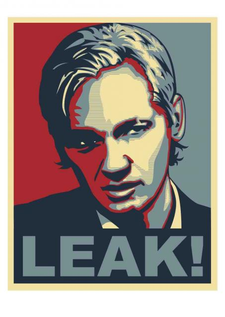 Portrait of Wikileaks founder Julian Assange by artist Arjen van Lith