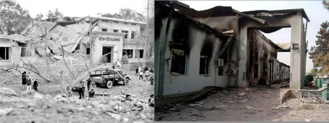 Bach Mai Hospital, 1972, and Kunduz Hospital, 2015. 'America doesn't intentionally bomb hospitals'?  You decide