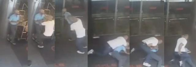 Images of NYPD thug undercover cop attacking tennis star James Blake without warning, throwing him to the ground and cuffing him
