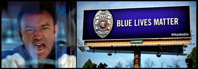 Fictional cop Popeye Doyle going berserk and a billboard in Chattanooga, Tennessee