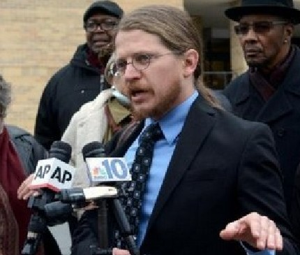 Abolitionist Law Center Legal Director Bret Grote, one of the attorneys handling Mumia Abu-Jamal' federal petition demanding treatment for his Hep-C case