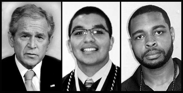 Three killers: George W. Bush, Jeronimo Yanez and Micah Johnson