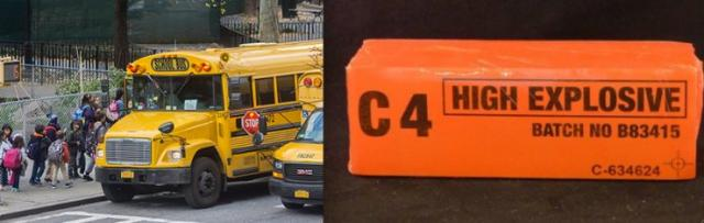 "Alert Virginia school district mechanic found C-4 explosive package planted on school bus in CIA ""test"""