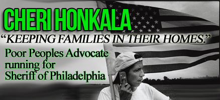 A Honkala For Sheriff banner