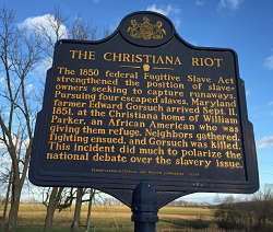 Christiana Riot historic marker.  LBW Photo
