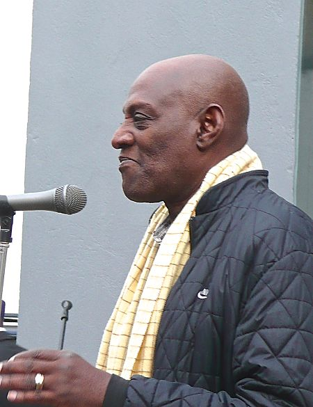 Darcus Howe speaks at 2011 event placing historic marker at the Mangrove Restaurant site. LBWPhoto