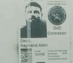 "This Dept. of Defense Contractor ID found on Davis belies his ""diplomat"" claim, but also raises questions about whether he's really CIA, or something else"