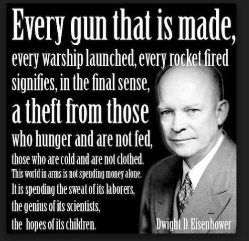 President Eisenhower's warning about what he called the military-industrial-complex