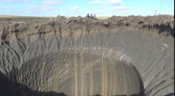 Scientistss are finding huge craters in the Siberian permafrost where methane hydrates have begun exploding out of the ground