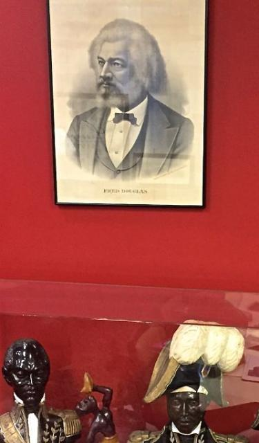 Sketch of Frederick Douglass at Blockson Afro-American Collection in Philadelphia. LBWPhoto