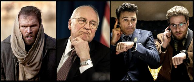 Scott Haze in Child of God; Dick Cheney; James Franco, left, and Seth Rogan up the creek in North Korea