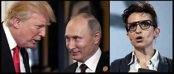 Donald Trump, Vladimir Putin and writer/editor Masha Gessen