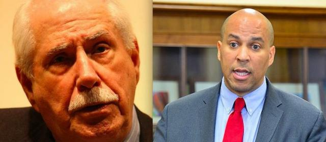 Former Sen. Mike Gravel (D-Alaska) and Sen. Cory Booker (D-NJ). Whose the real 'profile in courage'?