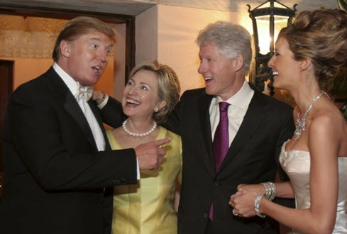 Hillary and Donald, no degree of separation? Deciding who is the worse candidate is a tough call.