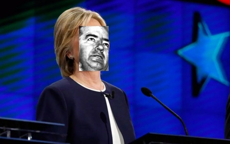 Her campaign in trouble in Iowa and New Hampshire, and her poll numbers falling nationally, Hillary has turned to Sen. McCarthy for inspiration (Joe, not  Gene)