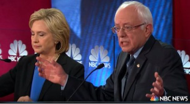 """Bernie Sanders blasts Hillary Clinton during the Jan. 17 debate for using a """"Republican charge"""" in lying that his Medicare for All plan would """"dismantle"""" Obamacare"""