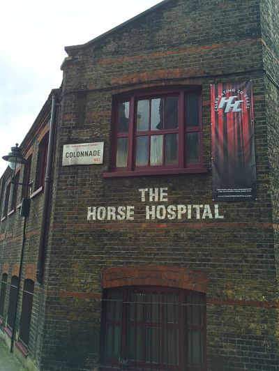 The Horse Hospital, built in 1797 for horse care, is now an arts venue in London, capital of Britain. LBW Photo