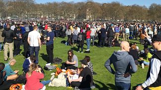 Thousands joined 4/20/2016 'smoke-out' in London. LBW Photo