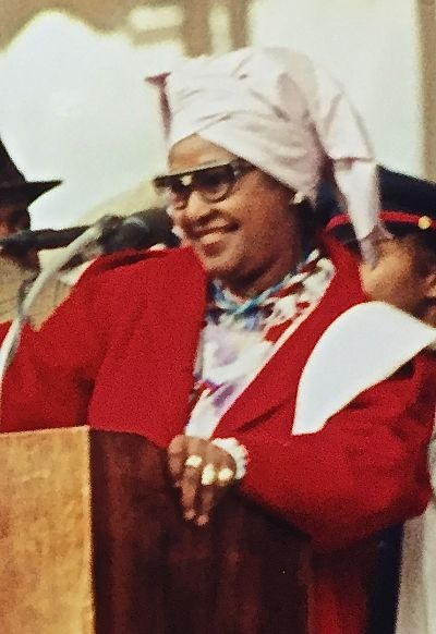 Winnie Mandela at 1997 Million Woman March in Philadelphia, Pa. LBWPhoto