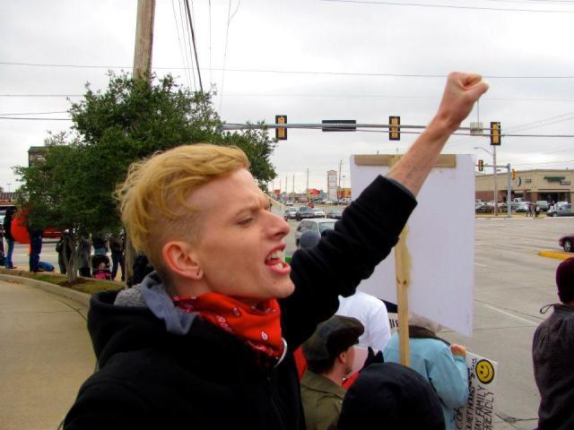 Occupy OKC's Jay Vehige, aka Jay Fox (photos by Jay Vehige)