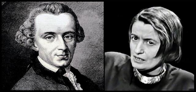The selfless Emmanuel Kant and the selfish Ayn Rand