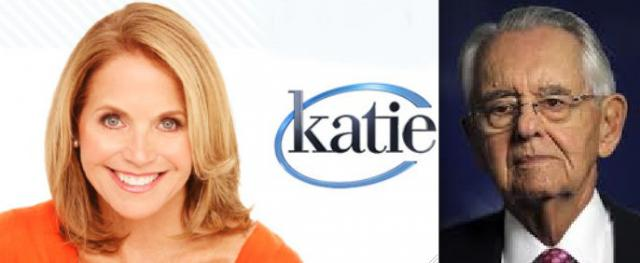 Journalist Katie Couric and Wall Street financier Peter Peterson, two enemies of Social Security