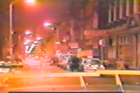 Filmmaker Ted Passon just discovered this footage of the shooting scene in a local ABC Channel 6 archive, with no taxi.