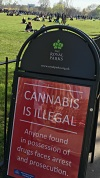 Thousands smoked pot in London's historic Hyde Park on 4/20/2016. LBW Photo