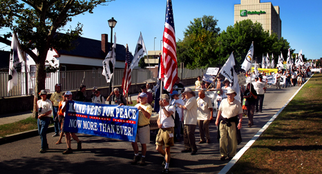 Veterans For Peace march through Portland, Maine