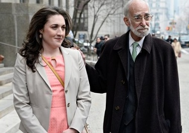 Cecily McMillan and her lead attorney Martin Stolar in a photo taken during her trial