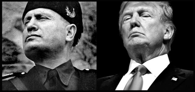 In Hollywood acting parlance, last night, Trump WAS Mussolini. His chinwork was astonishing!