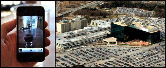 The omnipresent citizen cellphone camera and NSA headquarters in Washington DC