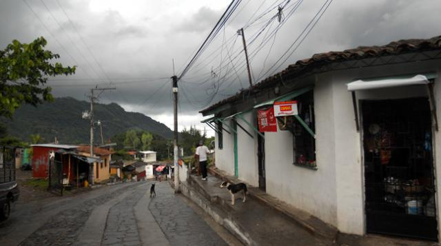 A street in Panchimalco, El Salvador