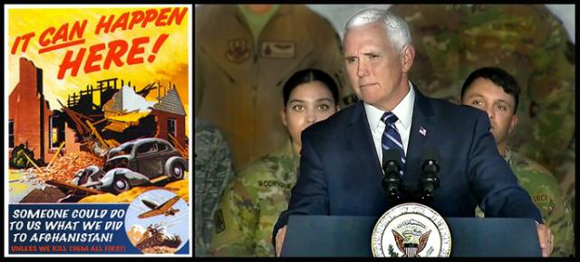 Vice President Mike Pence telling Bagram troops how he regrets not serving in uniform