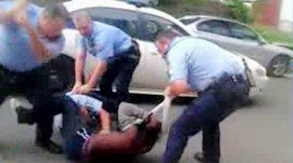 Philly's finest being cop, judge and gangbangers on an 18-year-old in 2012