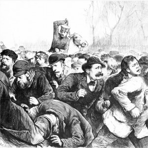 Cops attack unemployed workers in New York's Tompkins Square in 1874