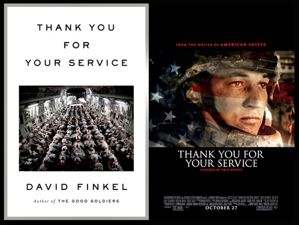 David Finkel's book and the movie's poster
