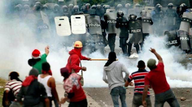 Post election count rioting in Honduras