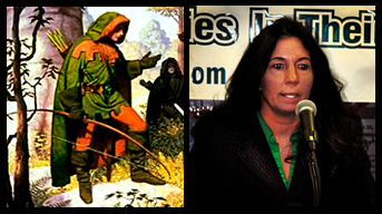 Robin Hood and Cheri Honkala