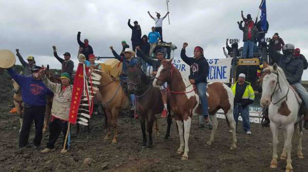 Protectors at Standing Rock
