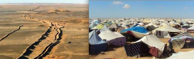 Sahrawi refugee camp in Algeria, and Morocco's not-so-great wall fencing of the Polisario-controlled zone in Western Sahara