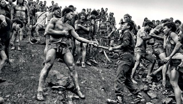Confrontation at a Brazilian gold pit-mine, by Sebastiao Salgado