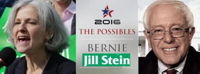 A Sanders-Stein Green Party dream ticket or just a dream? Sanders and Green activists are trying to make it happen.
