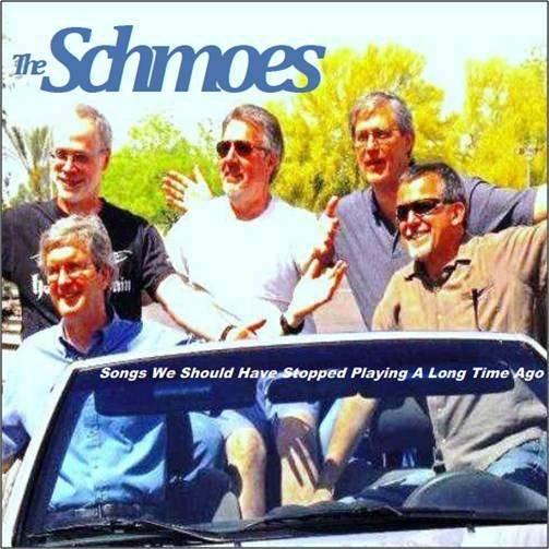 The Schmoes on their new (and first) album cover