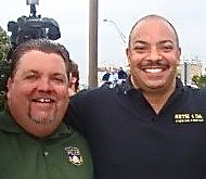 DA Seth Williams (r) with Philly police union president