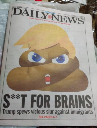Millions of New Yorkers saw this on newsstands on Jan. 12