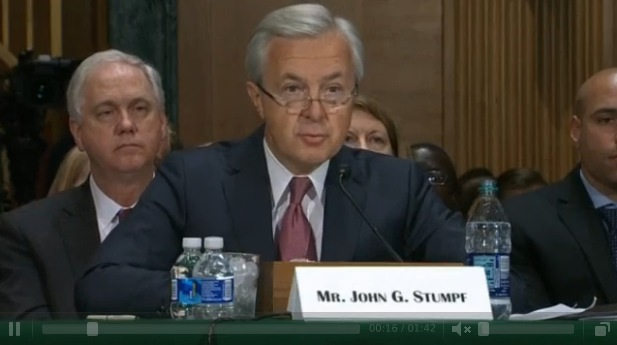 Model stand-up guy John Stumpf, CEO of Wells Fargo Bank